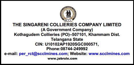 SCCL Khammam District (Telangana) Latest Executive & NCWA Cadre Posts Job Advertisement February 2015