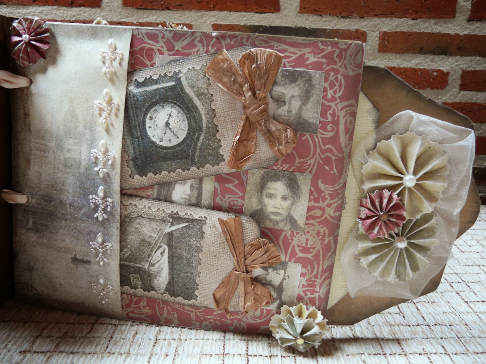 Mini album shabby chic vintage