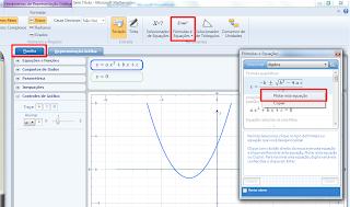 Fórmulas e equações - gerando gráfico