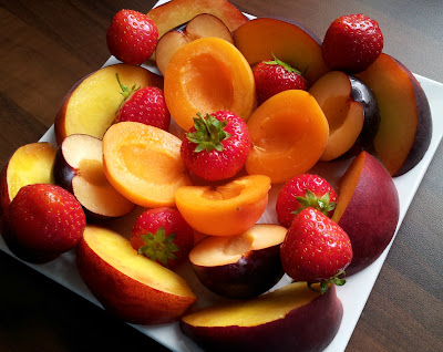 Summer Fruit, Strawberry, Peach, Apricot, Plum