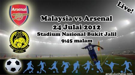 Video Gol Malaysia vs Arsenal 24 Julai 2012