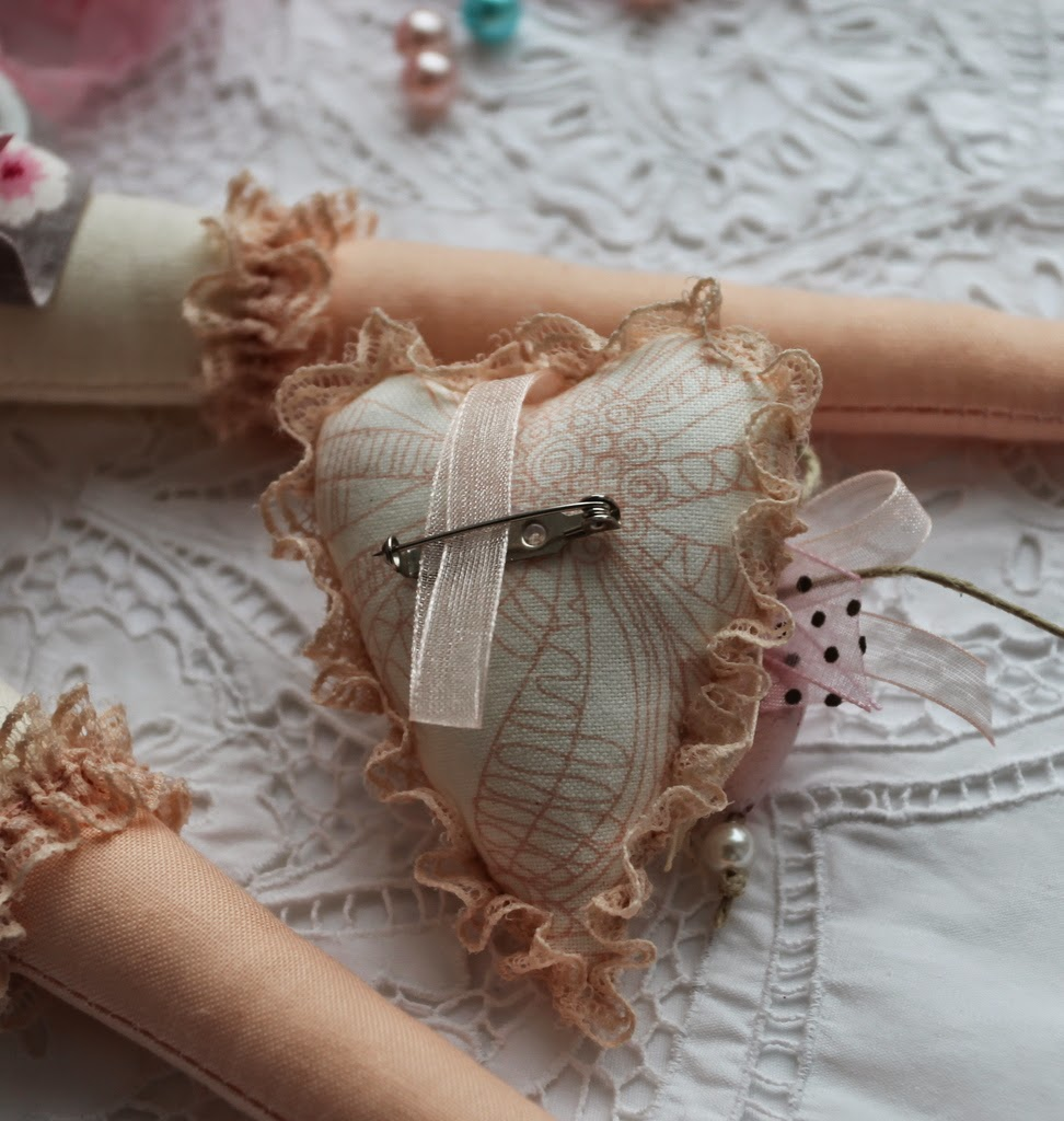 тильда принцесса ангел сердце брошка