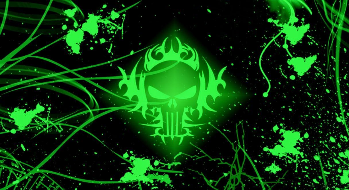 View Original Size Backgrounds For Gt Green And Black Skull Wallpaper Image Source From This