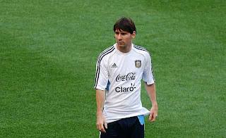Lionel Messi, con Argentina.