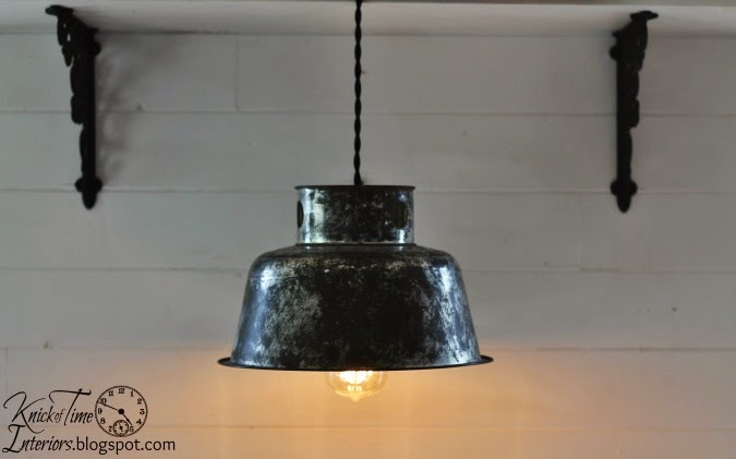 Vintage Repurposed Milk Can Pendant Light via http://knickoftimeinteriors.blogspot.com/