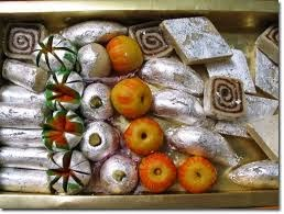 Indian sweets with varakh silver foil