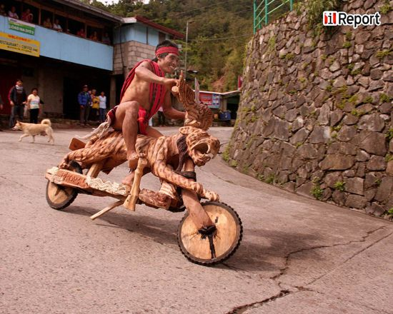 Wooden Scooter Race in Banaue,Ifugao,Philippines