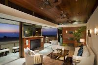 hermosa sala moderna elegante