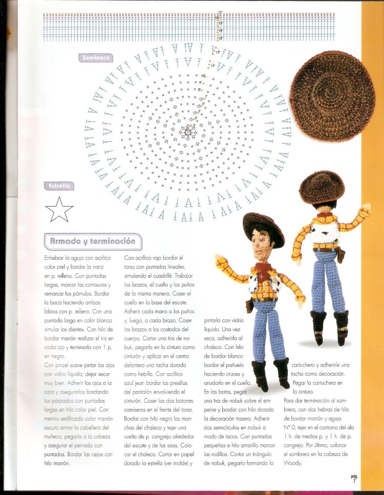 Encantador Patrón De Ganchillo Para Bebé Sombrero De Vaquero ...