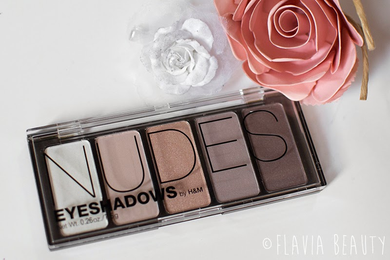 H&M nude eye shadow palette review swatch pictures cheap