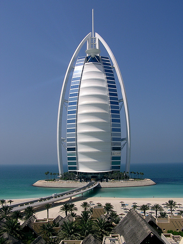 World visits sail building wonderful view for Dubai 7 star hotel name