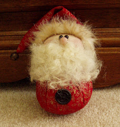 Roly Poly Santa Ornament