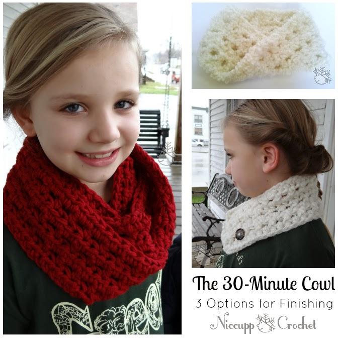 Niccupp Crochet The 30 Minute Cowl Free Crochet Pattern