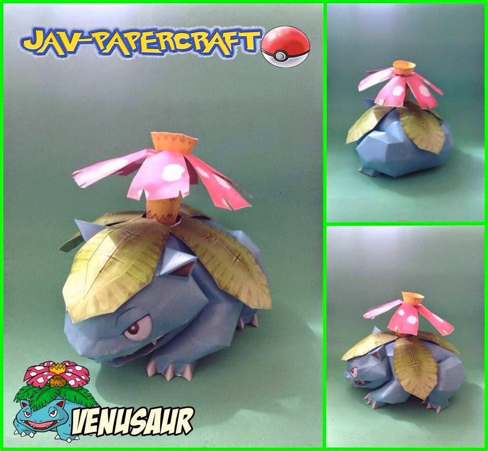 Venusaur Paper Model