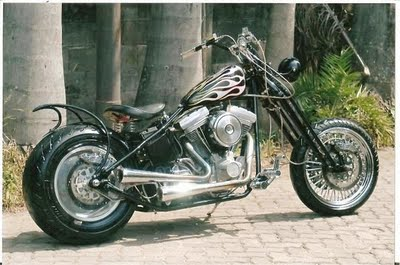 harley davidson chopper modification