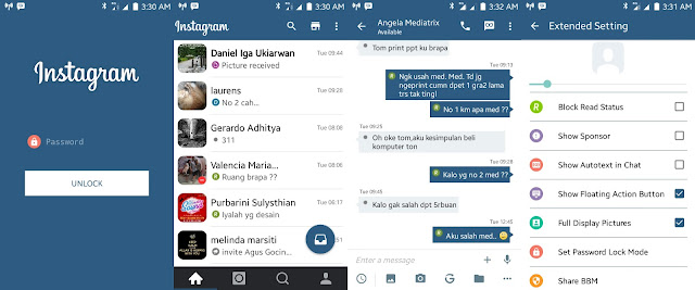 BBM Instagram V2 - BBM Android V2.11.0.16