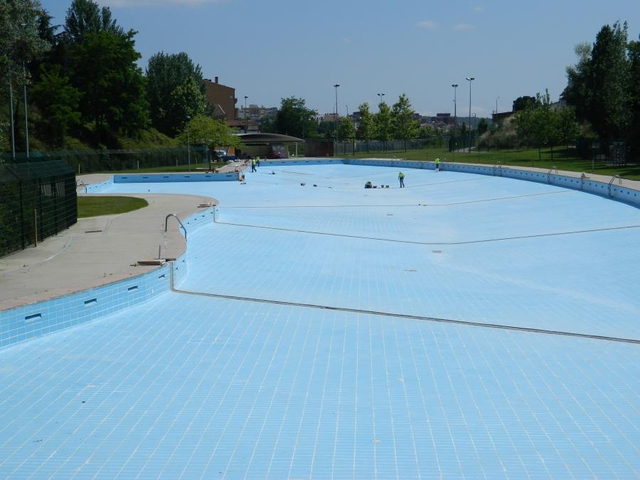 la piscina de vallparadis recibe los ltimos retoques
