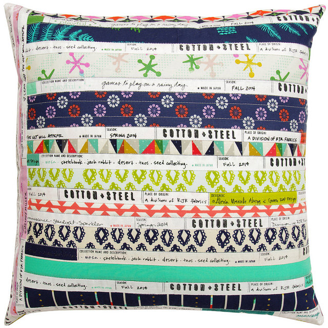 Cotton and Steel Selvage Pillow Cover | Red Pepper Quilts