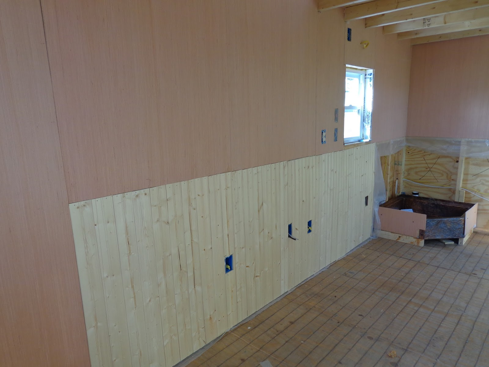 Kitchen Wainscoting Lh Growing A Tiny House On Wheels Three Views Of The Wainscoting