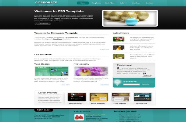 Free Corporate Business Green HTML CSS Template