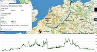 Vägen jag ska cykla till  Paris 2019
