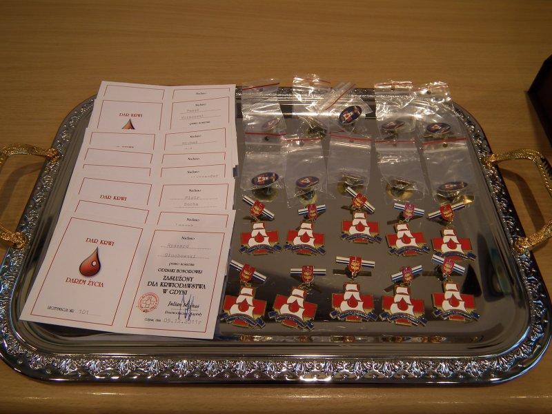 Zasłużony dla Krwiodawstwa w Gdyni.
