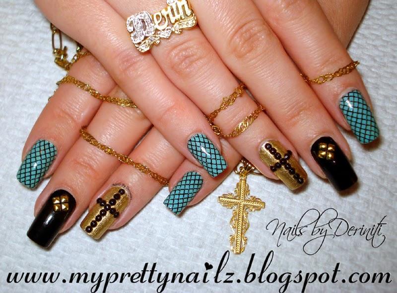 My Pretty Nailz: Edgy Elegant Glitzy Studded Christian Easter Nails ...