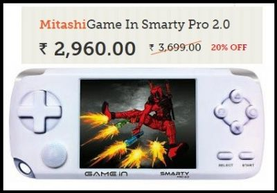 Mitashi Game In Smarty Pro 2.0 Video Game Worth Rs.3699 For Rs.2960 Only.