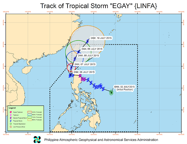 track of storm egay PAGASA