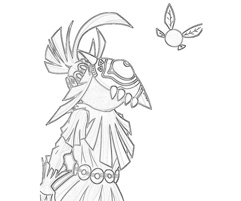 skull-kid-funny-coloring-pages