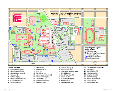 Fresno College Campus Map images