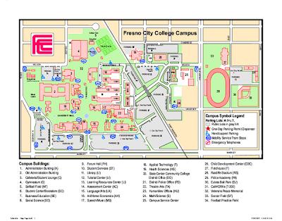 Fresno College Campus Map images