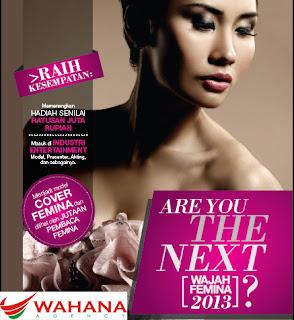 agency spg, pemilihan wajah Femina 2013, majalah femina, agency model
