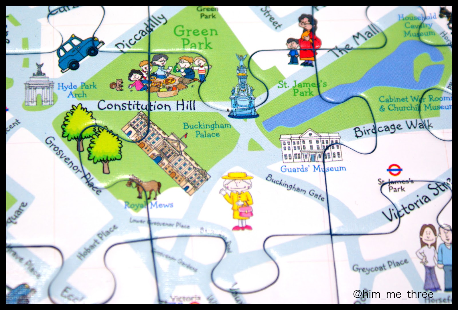 Ravensburger Puzzle Club London Childrens Map – Map of London Landmarks