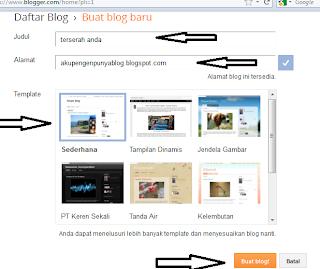 Cara Membuat Blog Di Blogspot Dengan Mudah Dan Gratis