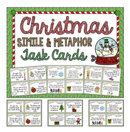 http://www.teacherspayteachers.com/Product/FREE-Christmas-Simile-and-Metaphor-Task-Cards-Holiday-Figurative-Language-976398