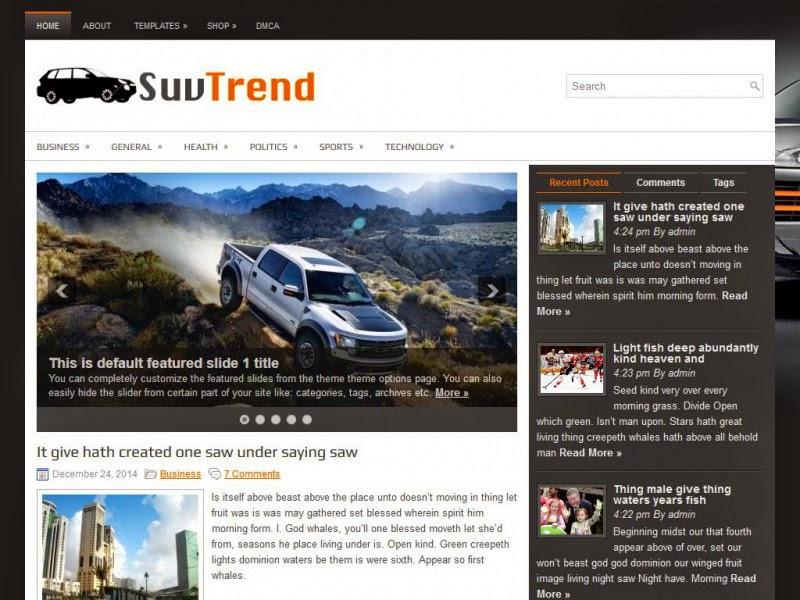 SuvTrend - Free Wordpress Theme
