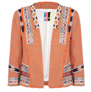 MSGM, multicoloured, cotton blend, bouclé jacket, Bead embellishments, embroidery detail, bracelet sleeves, fringed trims, open front, partially lined, Slip on, Alex Gerrard, Zara