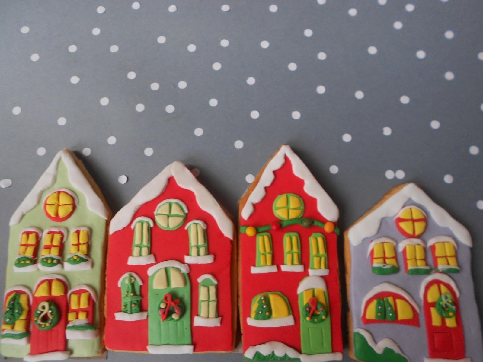 Que te den galletas casitas nevadas en navidad - Casitas de navidad ...
