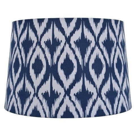 What I'm Loving Right Now: Ikat. Incorporate this trend into your home with this blue Ikat lampshade!!
