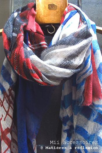 Foulard graphique fluide Mii accessoires