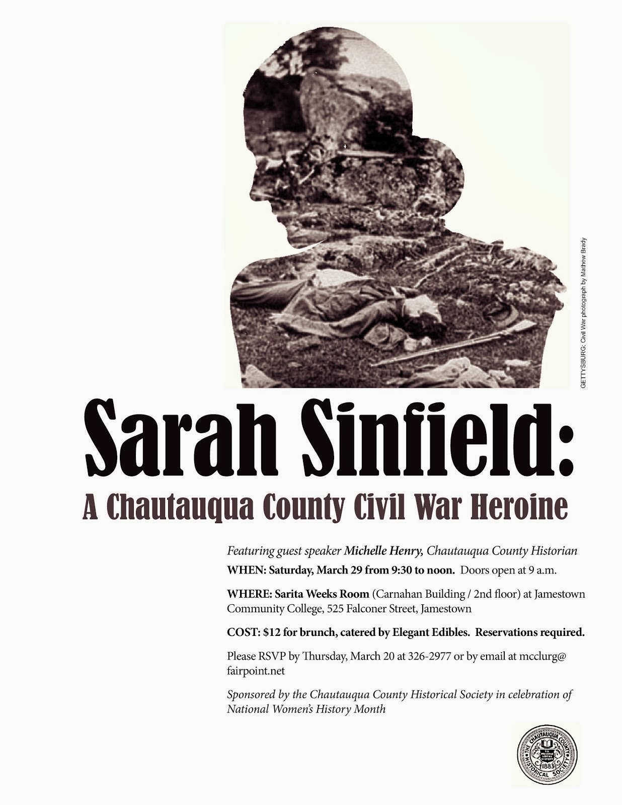 Sarah Sinfield Civil War Heroine