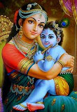 bebê Krishna e sua mãe