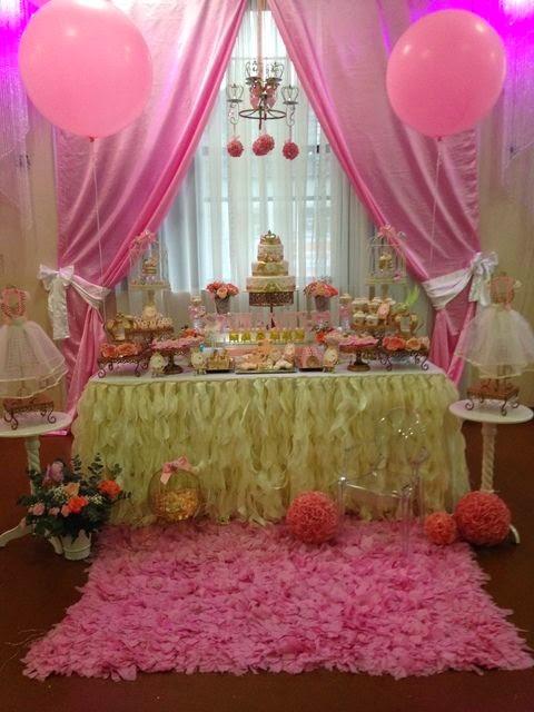 Decoraci n de fiesta de princesas fiestas infantiles decora for Decoracion de princesas