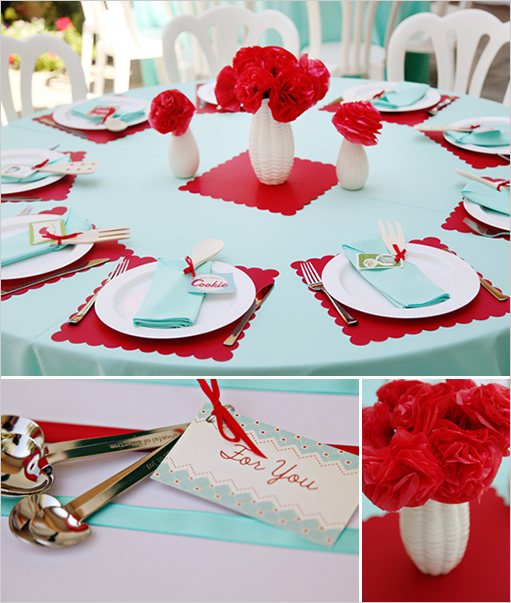 Aqua Red Wedding Fun