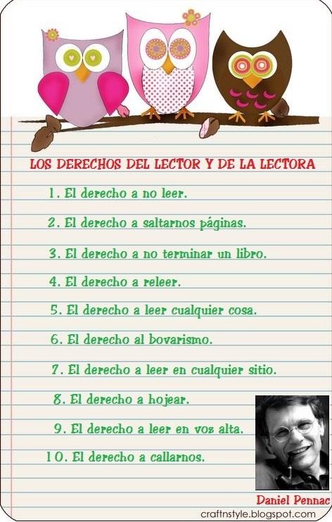 DERECHOS DEL LECTOR Y LECTORA