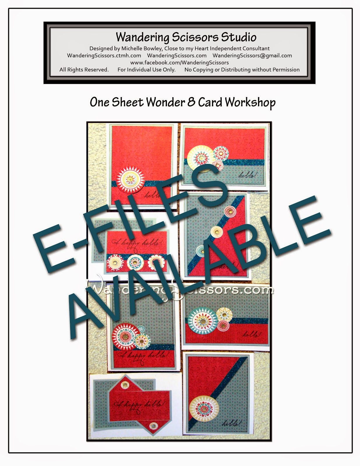 ONE SHEET WONDER 8 CARD WORKSHOP E-FILES