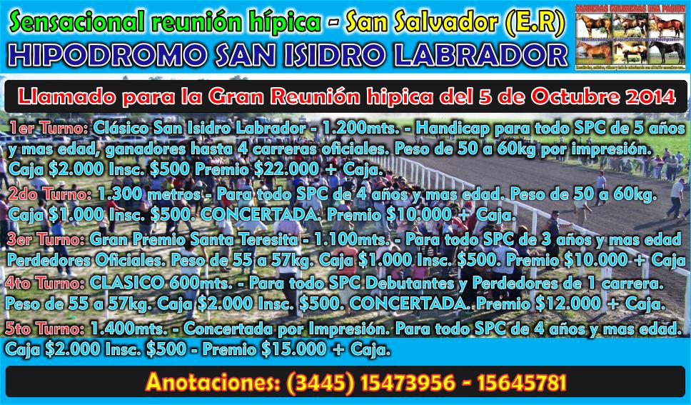 SAN SALVADOR - LLAMADO