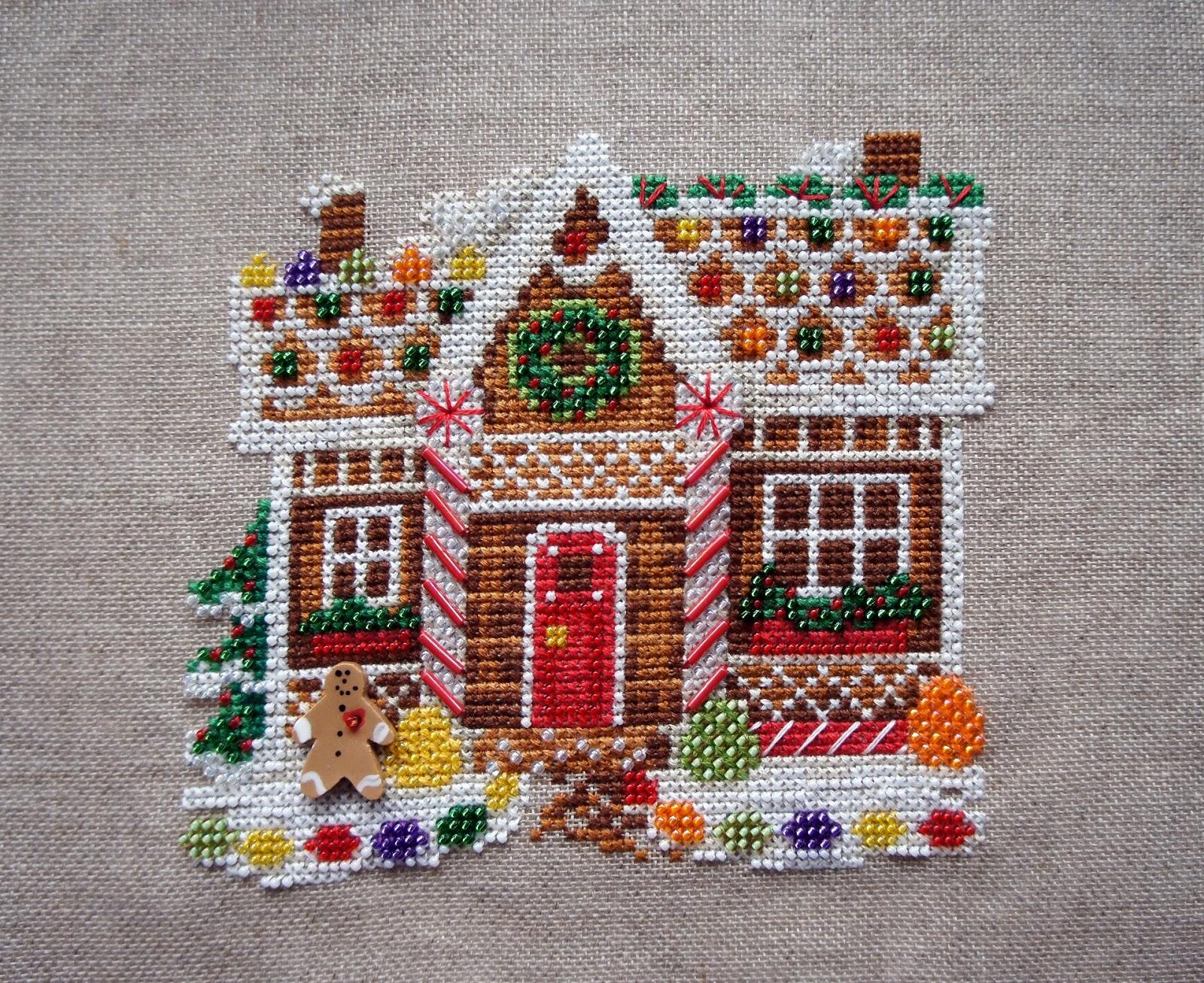 Вышивка пряничный домик схема 53