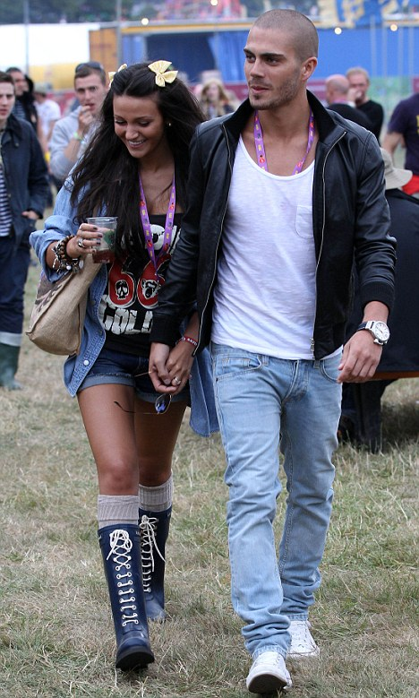 Smitten The Wanted S Max George And His Fiancée Michelle Keegan Were Hand In Vip Area Of V Festival Stafforshire Yesterday